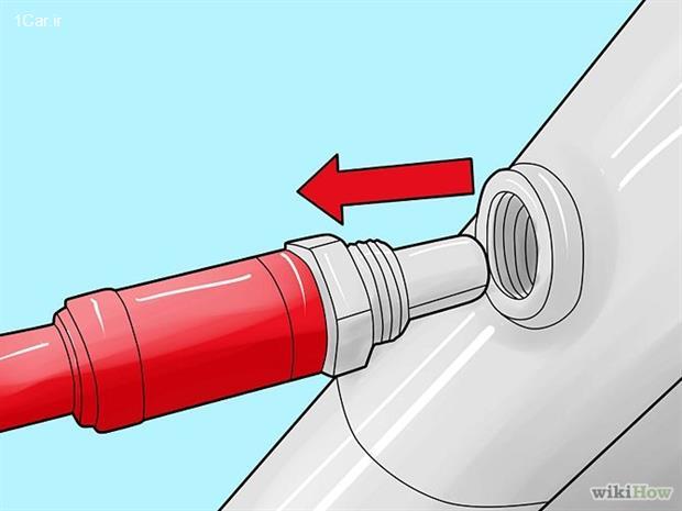 مرحله سوم نحوه تعویض سنسور اکسیژن