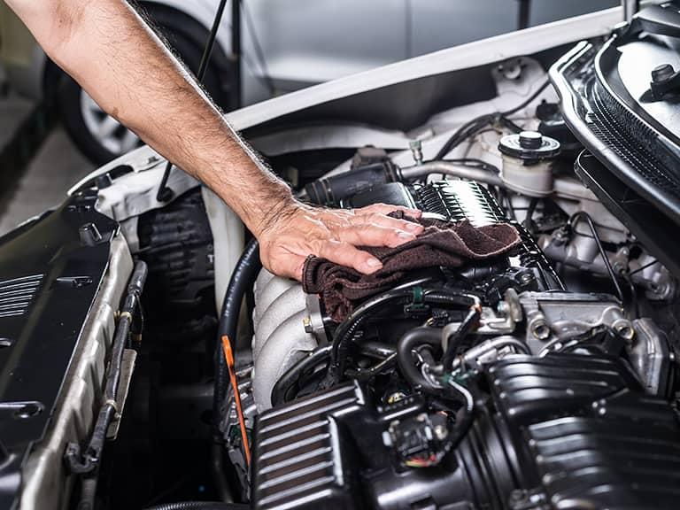 تمیز کردن موتور خودرو